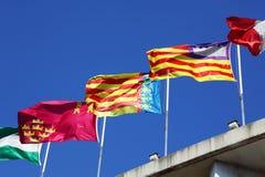 flags spain Fotografering för Bildbyråer