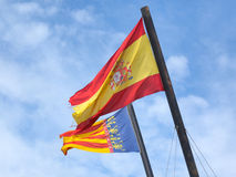 Flags of Spain Stock Images