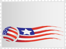 Flags on a stamp Royalty Free Stock Image