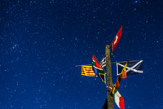 Flags and Stars Royalty Free Stock Image