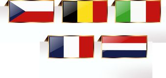 Flags of states Stock Photo