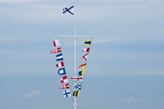 Flags in the sunny summer day Royalty Free Stock Photos