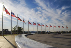 The flags surrounding the Washington Monument Royalty Free Stock Photo