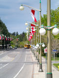 Flags on Sussex Drive Stock Photography