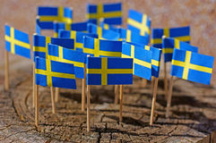Flags of sweden Stock Photography