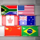 flags tangentbordet Royaltyfria Foton