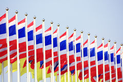 Flags of Thailand Stock Photography