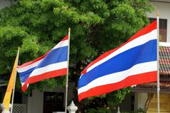 Flags of Thailand Royalty Free Stock Images