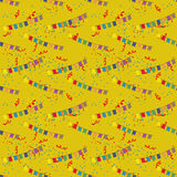 Flags and tinsel. Pattern for seamless background flags and tinsel Stock Images