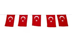 flags turk Royaltyfria Foton