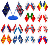 flags tyska slovenia spain sweden yugoslavia royaltyfri illustrationer