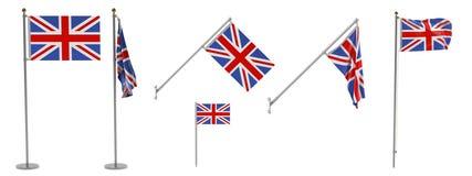 flags uk Arkivfoto