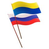 Flags ukr rus. Vector eps 8 stock illustration