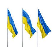 Flags of Ukraine Stock Photo