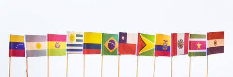 Flags of unasur Stock Images