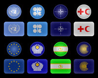 Flags of unions and organizations Royalty Free Stock Photo