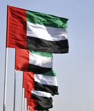Flags of the United Arab Emirates Stock Photo