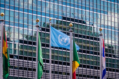 Flags at United Nations Headquarters - New York, USA Royalty Free Stock Photography