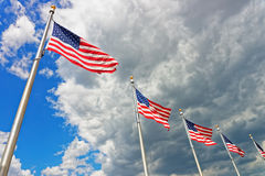 Flags of the United States of America royalty free stock photography