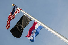 Flags,US,Missouri,pow,mia, Royalty Free Stock Image