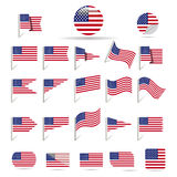 Flags of US Stock Image