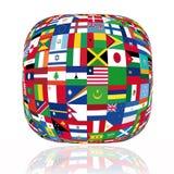 flags världen royaltyfri illustrationer