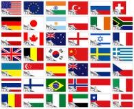 flags världen Royaltyfria Foton