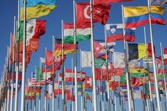 flags världen arkivbild