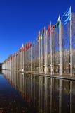 flags världen royaltyfria bilder
