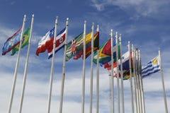 flags världen Arkivbilder