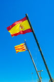 Flags of Valencia and Spain Royalty Free Stock Photography