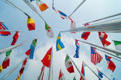 Flags of various colors Royalty Free Stock Images