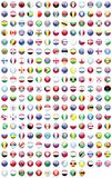 FLAGS OF THE WORLD. Flags of various countries round icon Stock Photo