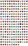 FLAGS OF THE WORLD. Flags of various countries round icon Royalty Free Stock Photography