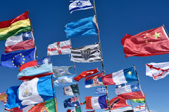 Flags of various nations, Bolivia Royalty Free Stock Photography
