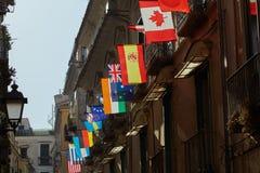 Flags of various world countries Stock Photos