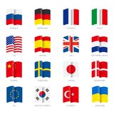 Flags vector. Eps 10. stock illustration