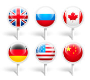 Flags. Vector illustration Stock Image
