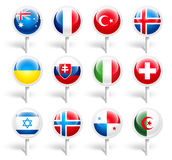 Flags. Vector illustration Royalty Free Stock Photos