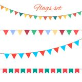Flags vector set for your birthday design. Stock Photos