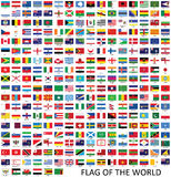 Flags vector of the world Royalty Free Stock Photography