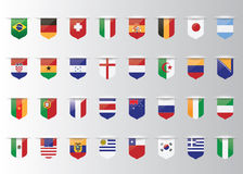 Flags vector of the world royalty free illustration