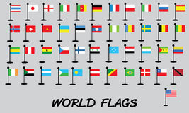 Flags vector of the world world flags vector Royalty Free Stock Photography