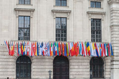 Flags in Vienna Royalty Free Stock Photos