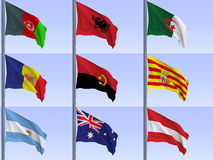 Flags vol1 Stock Photography