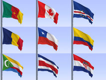 Flags vol4 Royalty Free Stock Photo