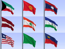Flags vol5 Royalty Free Stock Photo