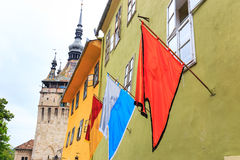 Flags on the wall Royalty Free Stock Photos