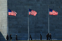 Flags at the Washington Monument Royalty Free Stock Photography