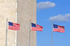 Flags at Washington Monument Royalty Free Stock Photography